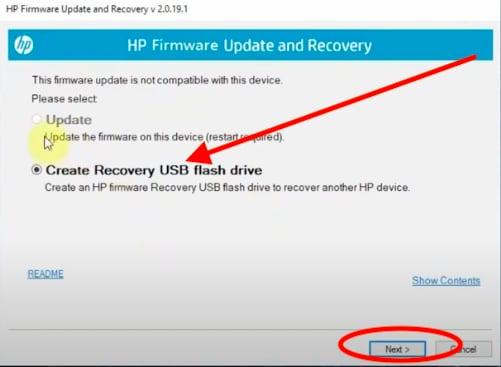 create recovery usb flash drive