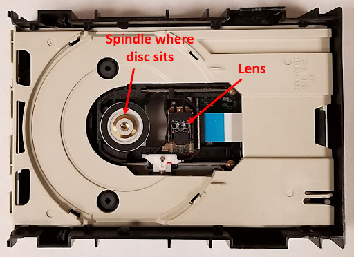 spindle lens cd player