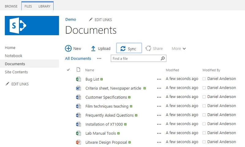 Sync SharePoint to computer files