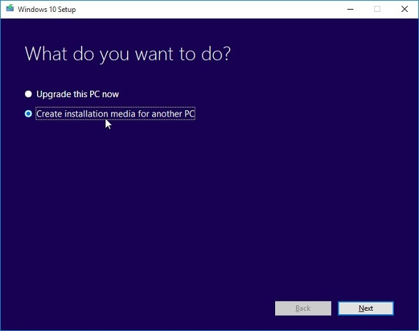Create Installation Media for Windows