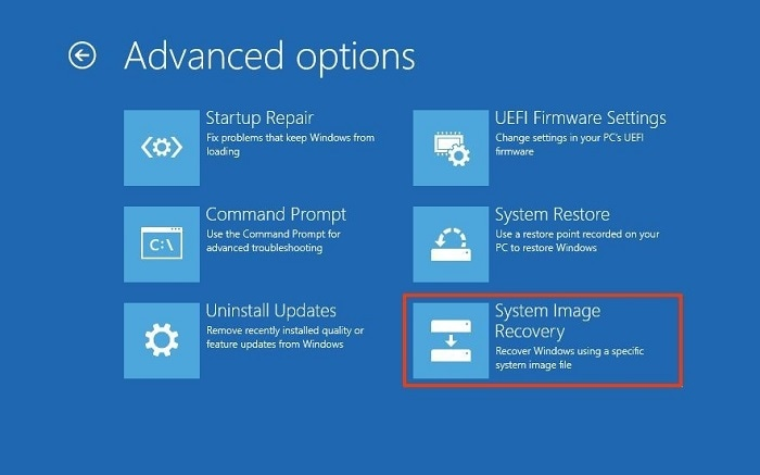 System Image Recovery Option