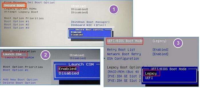 click bios boot mode