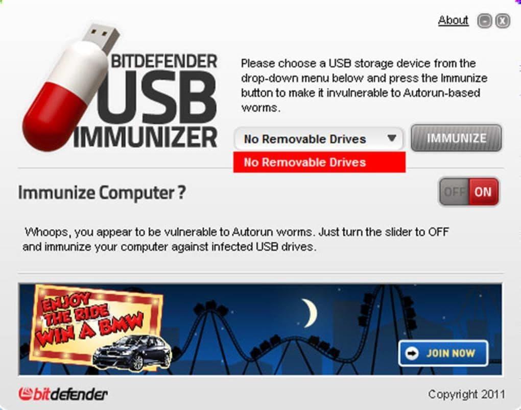 bitdefender usb immunizer antivirus