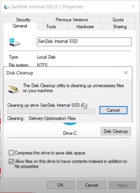 check deleted files image
