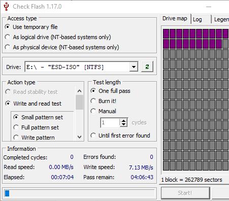 check flash benchmark to exam the usb speed
