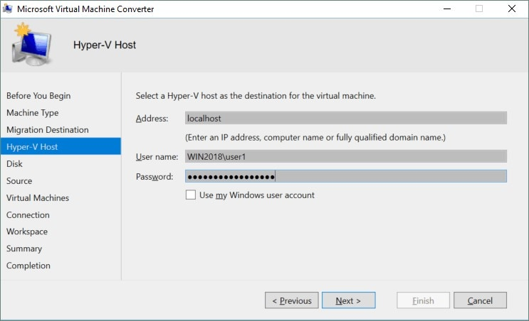 add hyper v host details