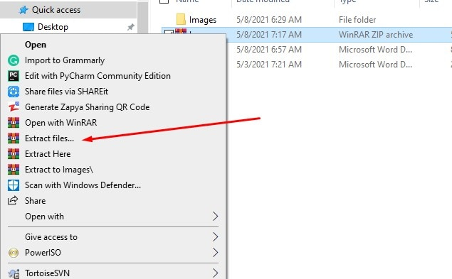 extracting 0x80004005 error file with winrar software