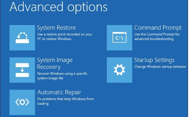 tap on system restore