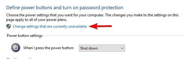 access administrator power settings