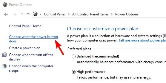 select the option of what power does