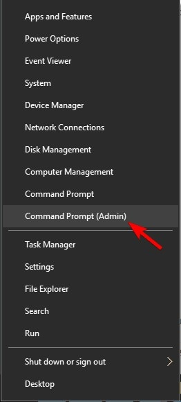 open command prompt as  admin