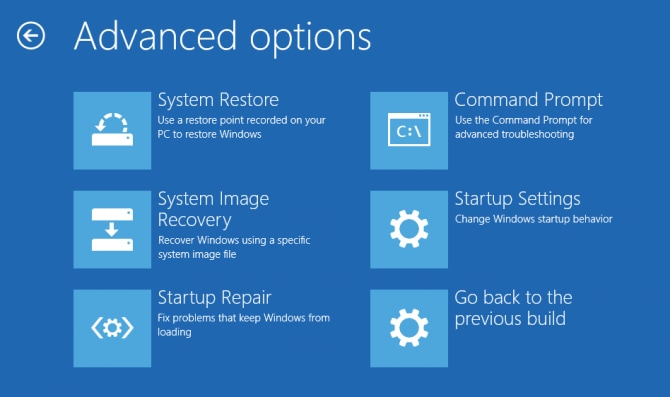 Advanced options for troubleshooting