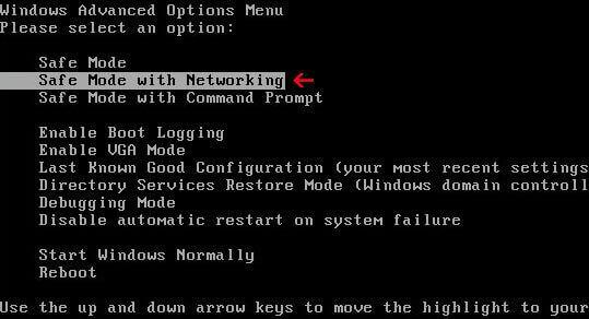 Advanced options window