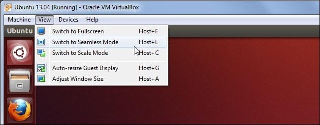 seamless mode in virtualbox