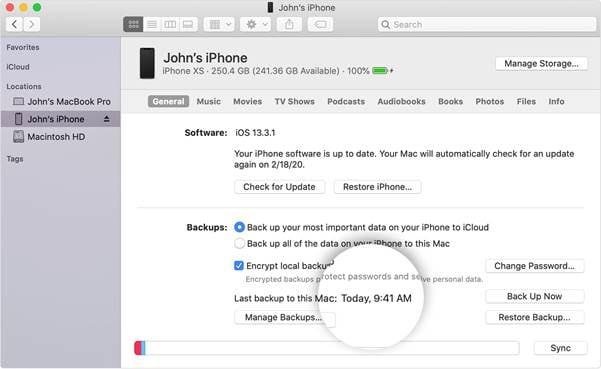 Restore files using iCloud Backup