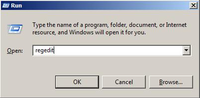 opening registry editor