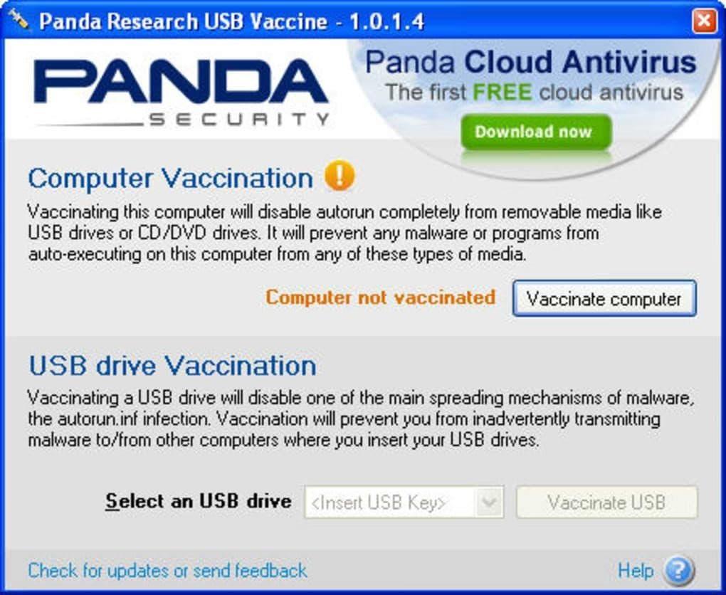panda usb drive vaccination