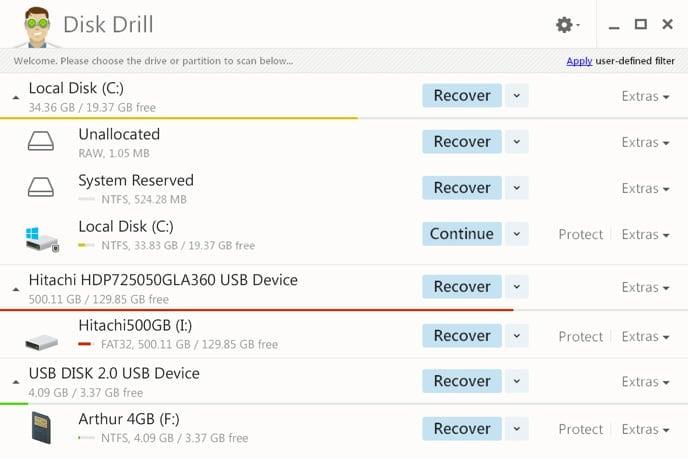 disk drill window