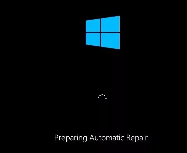 preparing for automatic repair screen