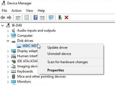 tap on the option of  update driver