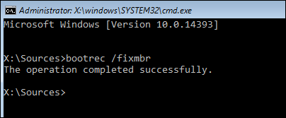 boot recovery command line