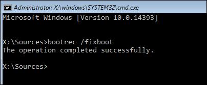 fix boot command line