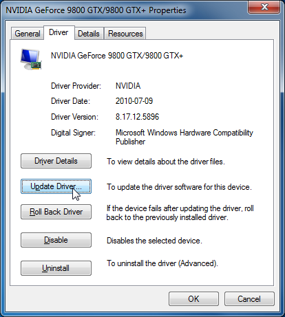 updating the drivers