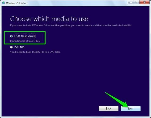 click on usb flash drive