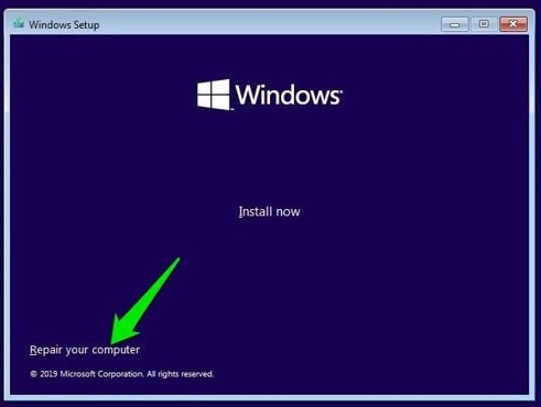 use bootable usb or disk