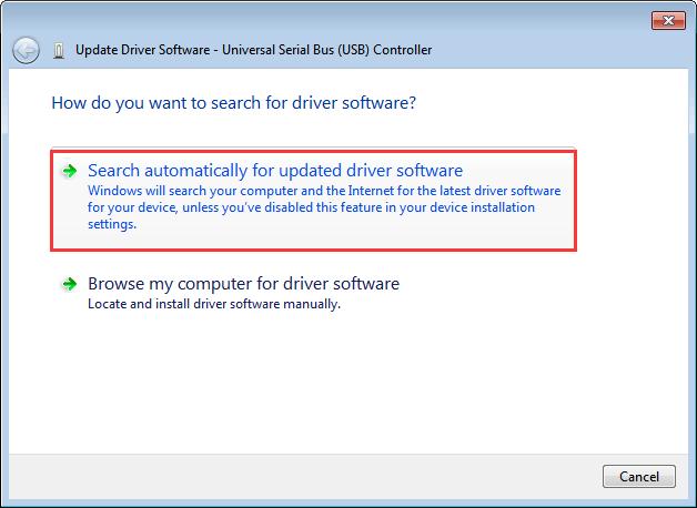 buscando automáticamente en Windows 10