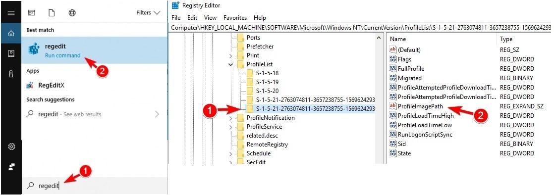 windows registry editor window