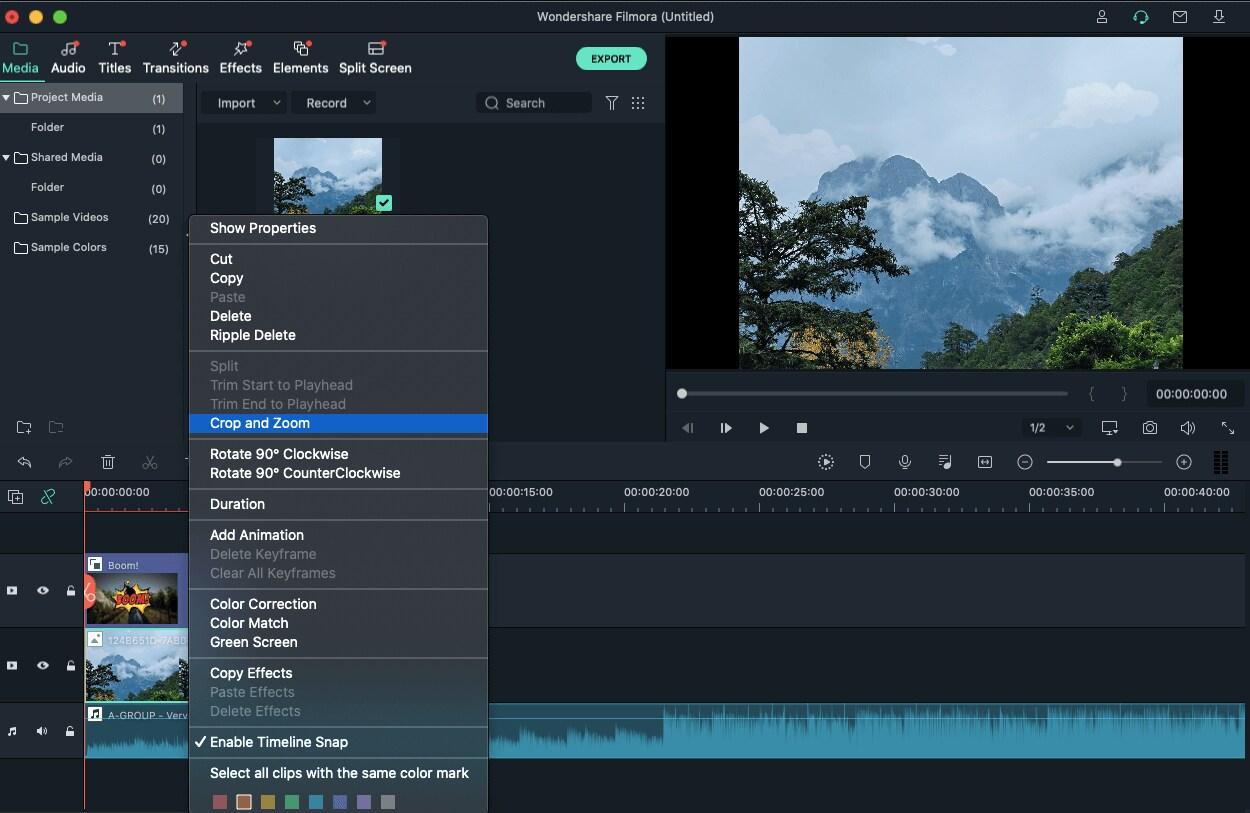 Editor de vídeo Wondershare Filmora