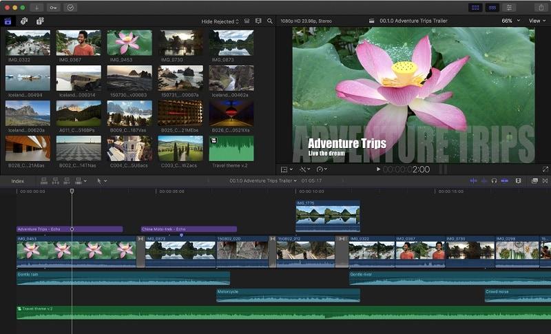 Editor de vídeo Final Cut Pro X