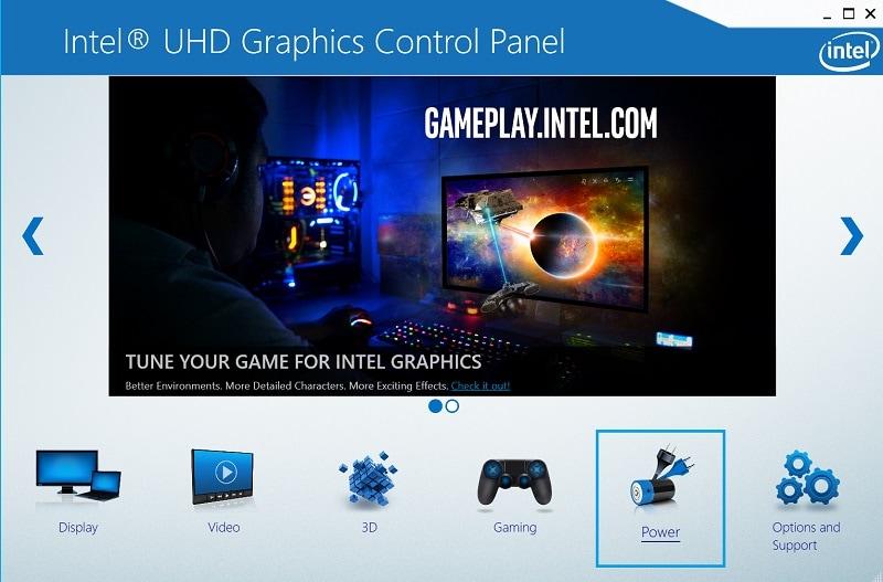 Intel Graphics Power Settings