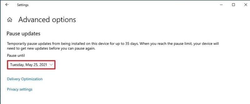 Pause Windows 10 Updates