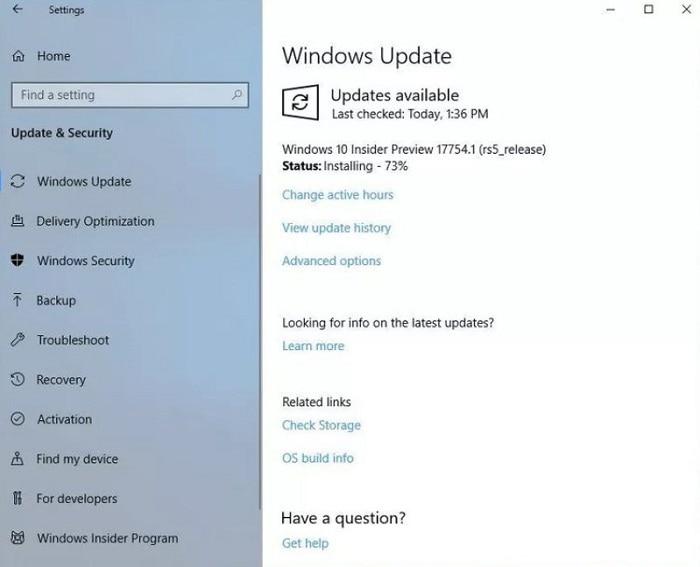 Windows 10 Update Installing