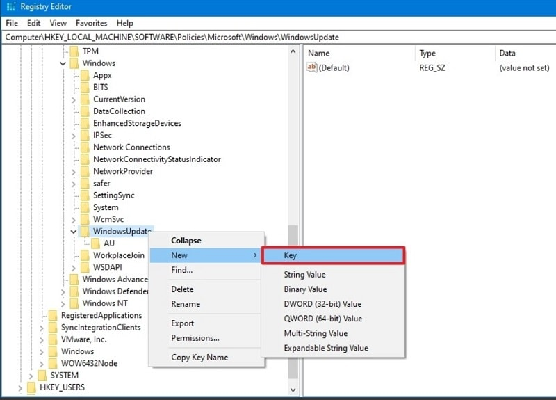 Windows Update New Key