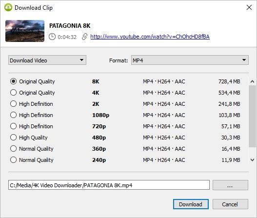 4K Video Downloader 8K Video