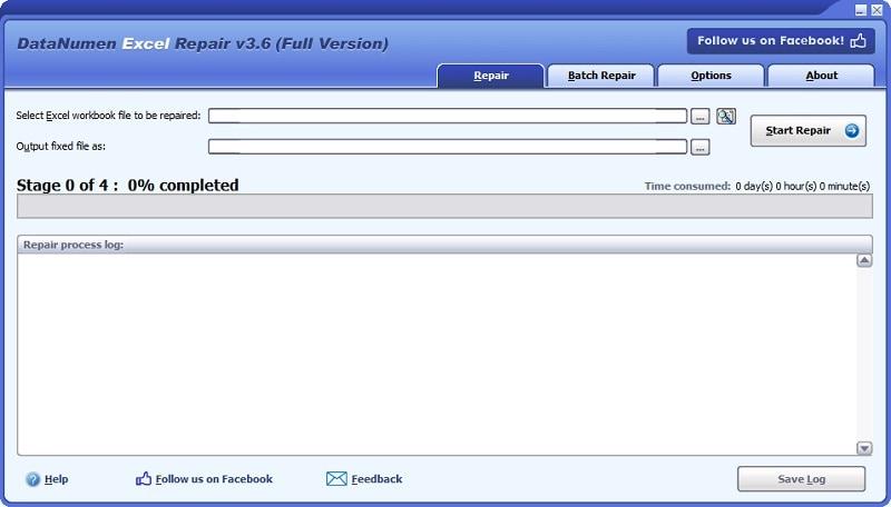 Excel Repair Tool Interface