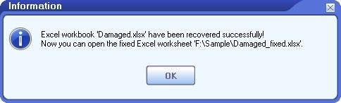 Excel Repair Tool Completed
