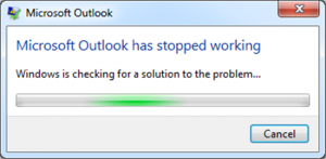 Outlook crashed or not responding