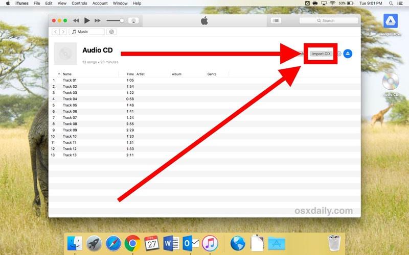 insert cd to mac