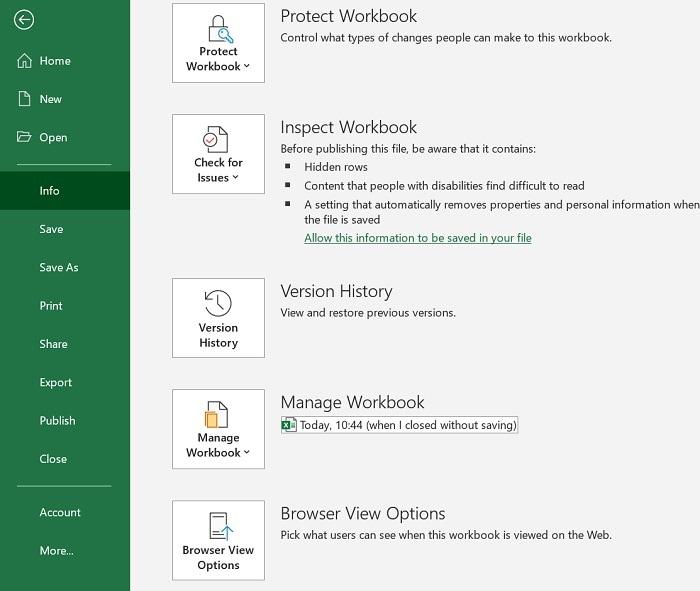 MS Excel Version History