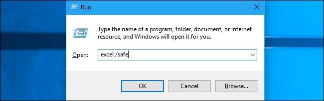 Windows Launch Excel Safe Mode