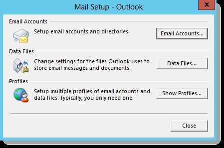 Select your E-mail account