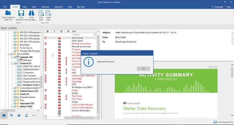 Preview recovered data before saving
