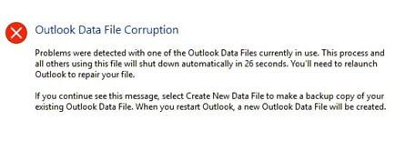 Corrupt PST file error