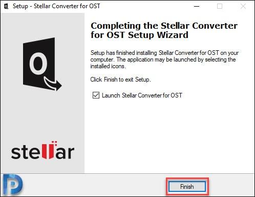 Finish Stellar recovery tool's installation