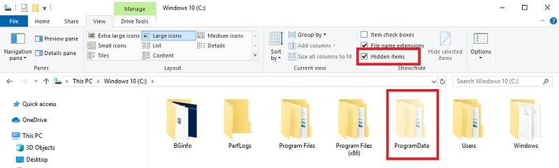 Ver archivos ocultos en Windows