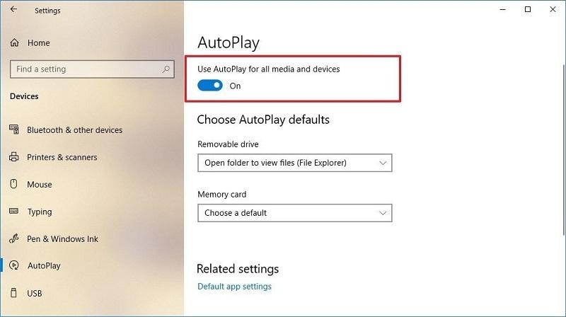 Deshabilitar Función de reproducción automática de Windows
